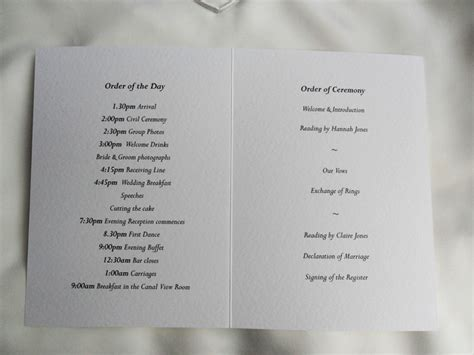 Wedding Order Of Service by Pin Wedding Order Of Service Website Exles On