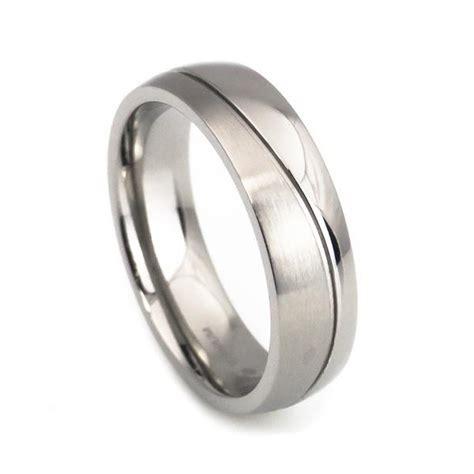 simple design titanium wedding rings for anniversary