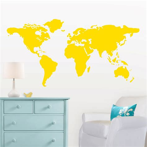map wall decal large world map wall decal with dots and to