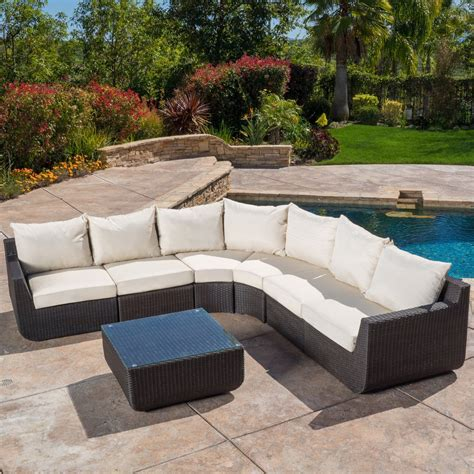 7 piece sectional couch prado outdoor 7 piece sectional sofa set with beige