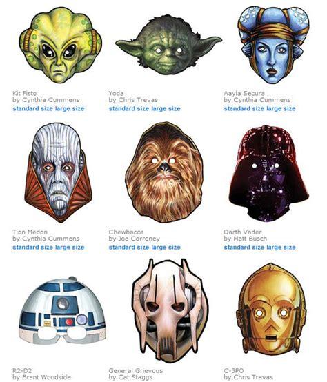 printable star wars masks 27 best star wars online party ideas tip junkie