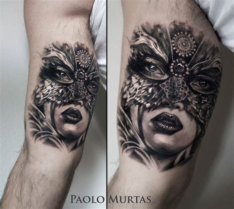 lady tattoo mask tattoos askideas