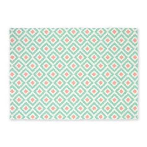 mint colored rug mint coral ikat pattern 5 x7 area rug ikat pattern rugs