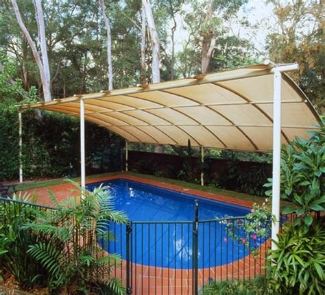 backyard shade structure ideas curved shade structure for pool patio awnings