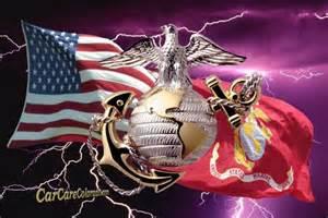 Marine Corps Window Decal Us Marine Corps Salute With Lightning Rear Window Graphic