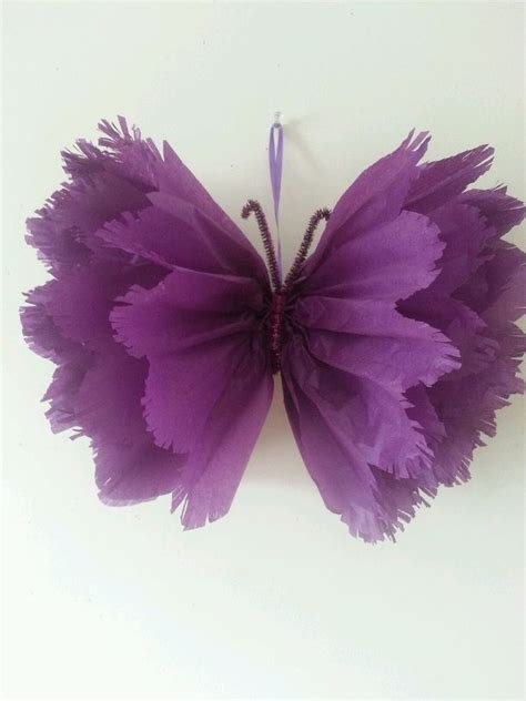 How To Make Tissue Paper Butterflies - wedding babyshower birthday christening butterfly