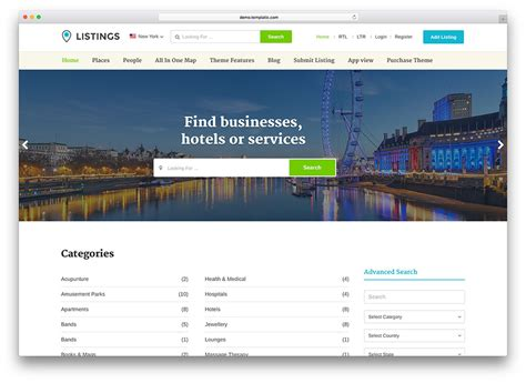 Listings Real Property Solutions Of 20 Best Directory Themes 2018 Colorlib
