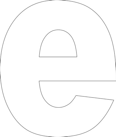 large printable lowercase alphabet letters 8 best images of large printable e template free