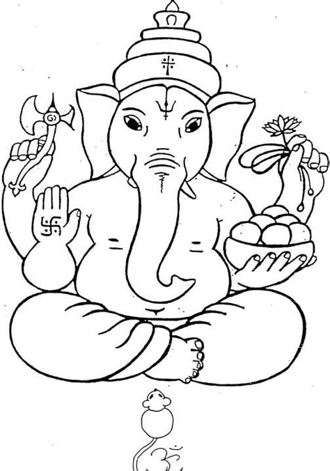 printable ganesh images printable coloring pages hindu mythology ganesh gods