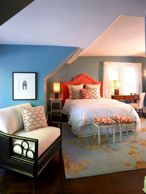 orange and blue bedroom 13 attic bedroom design decorating ideas design trends