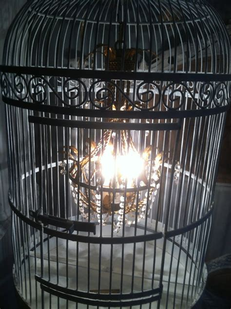 White Birdcage Chandelier Italian Chandelier Inside White Birdcage On Stand