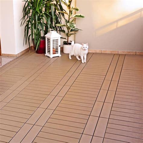 piastrelle da terrazzo piastrella in plastica ad effetto legno easyplate beige