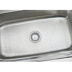 mdesign starry kitchen sink protector mat large clear