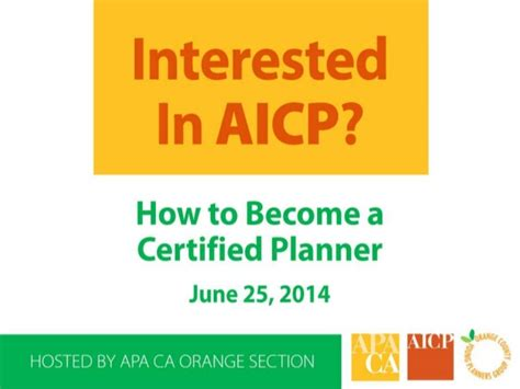 how to become a planner interested in aicp how to become a certified planner