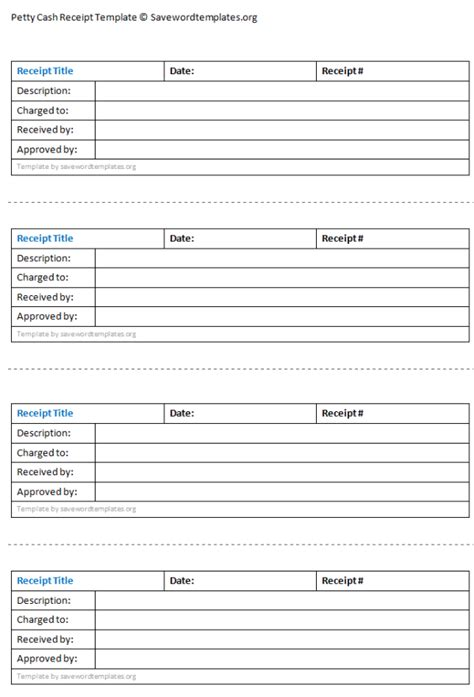 free petty receipt template 9 petty templates word excel pdf templates