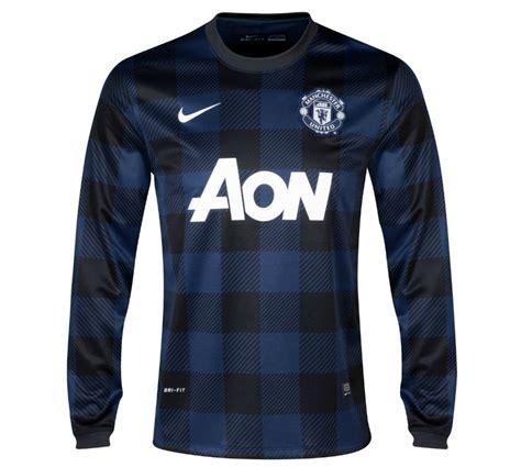 Jersey Mu Aon Blue 2013 14 utd away nike sleeve shirt 547931 411