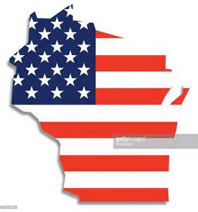 usa map flag vector usa flag wisconsin map vector getty images