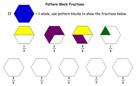 adding fractions pattern blocks worksheet fractions fraction tiles model improper fractions and