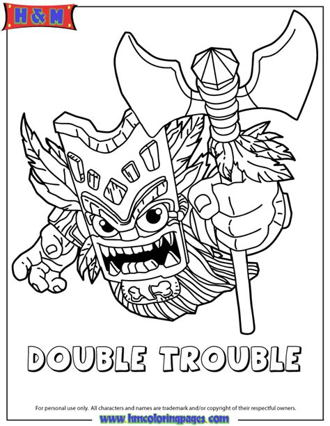 free coloring pages of tree rex skylander