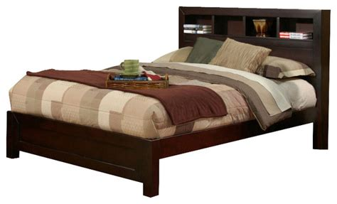 California King Bookcase Headboard by Solana Cal King Platform Bed With Bookcase Headboard