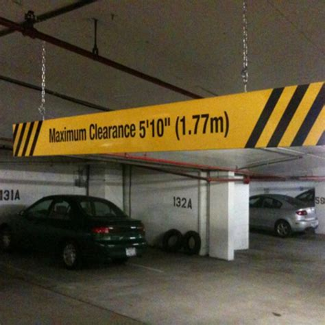 Parking Garage Clearance by Heavy Duty Aluminum Bar With Maximum Height Sign 96 X 8