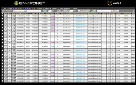 Server Inventory Spreadsheet by The To Powerful Dcim Geist