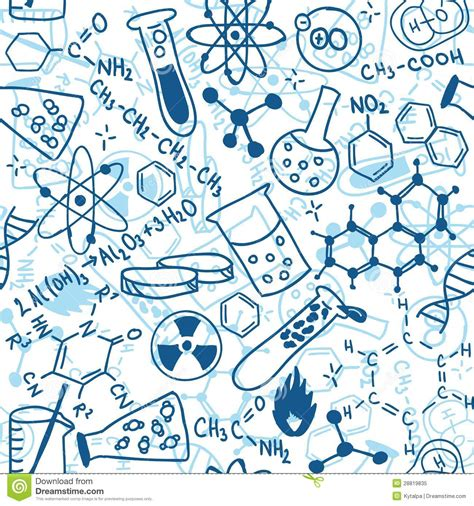 pattern background science science seamless pattern stock vector illustration of