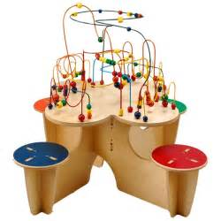 fleur rollercoaster table with attached seats bead and