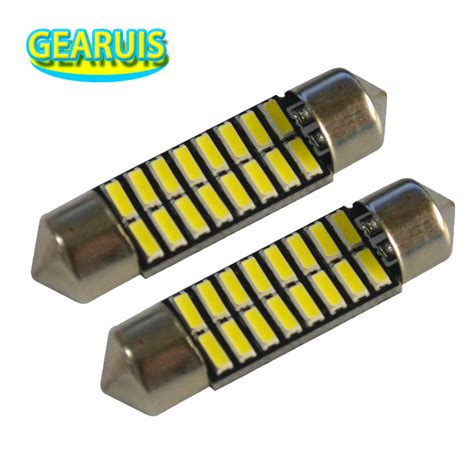 Led Festoon 36 Mm 39 Mm 41 Mm Smd 5730 Canbus Lu Kabin Festun 10cs festoon 31mm 36mm 39mm 41mm light 70ma c5w 16 smd led 4014 car dome reading lights auto