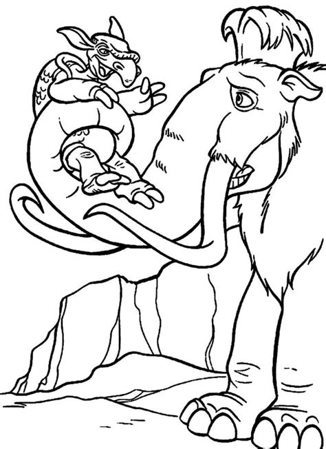 free coloring pages of ice age dawn of the dinosaurs