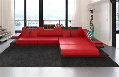 leather l sectional sofa luxury sectional sofa l shape with led and usb