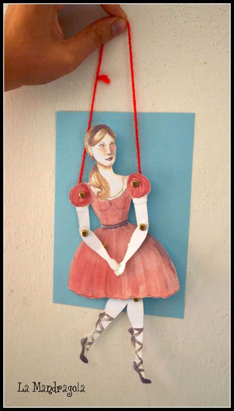 How To Make Paper Puppets At Home - items similar to dancer paper doll diy paper puppet