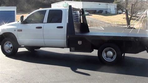 flat beds for sale for sale 2007 dodge ram drw flatbed work truck diesel 87k