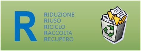 le 5r le 5 r dei rifiuti riduzione riuso riciclo raccolta
