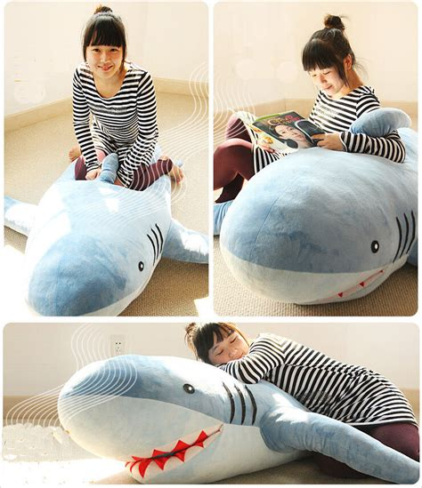 big shark pillow 71 quot 1 8m shark stuffed animal plush soft