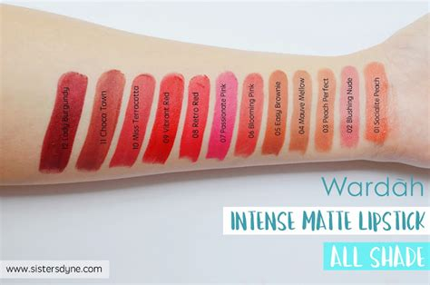 Lipstik Wardah Matte Lip da review swatch wardah matte