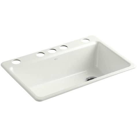 kohler riverby undermount cast iron 33 in 5 single