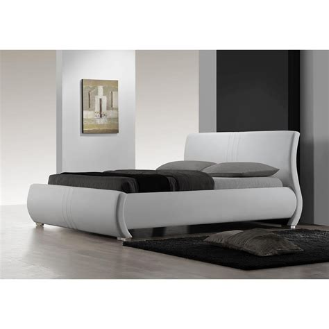 white platform bed white leather platform bed logan white leather bed
