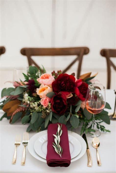 Trending 10 Burgundy And Blush Wedding Centerpieces For Burgundy Wedding Centerpieces