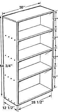 book shelf dimensions  diy bookshelf design