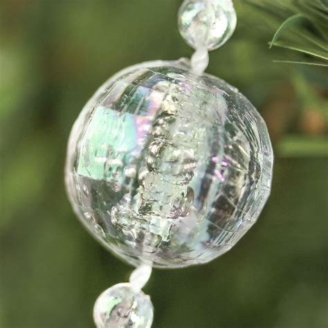 clear iridescent bead garland pearl spools basic craft