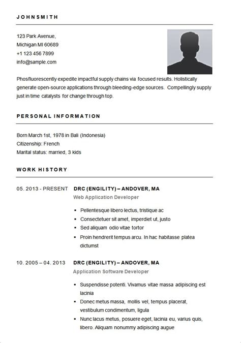 Basic Resume Sle Format Best Resume Gallery Free Basic Resume Templates Microsoft Word