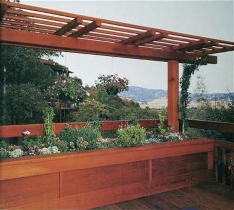 Deck Planter Ideas by Beneficial Built In Planters Deck Ideas Beneficial