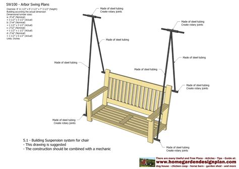 swing plan home garden plans sw100 arbor swing plans swing