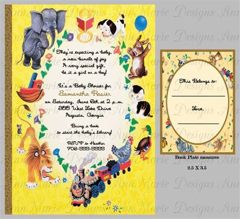 springtime babies golden book books inspired by the golden books baby shower invitation