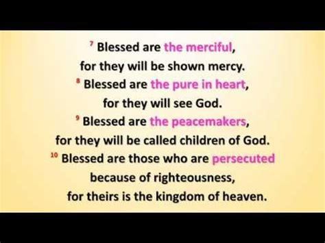 matthew 5 3 12 the beatitudes w accompaniment
