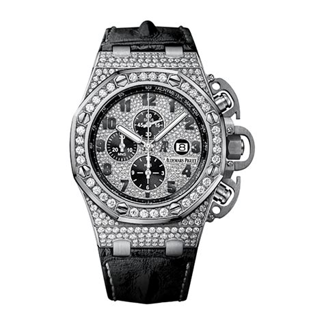 Audemars Piguet Roo Silver White audemars piguet royal oak offshore chronograph 26215bc zz a101cr 01 white gold diamonds