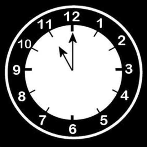 coloring page clock  eleven oclock img