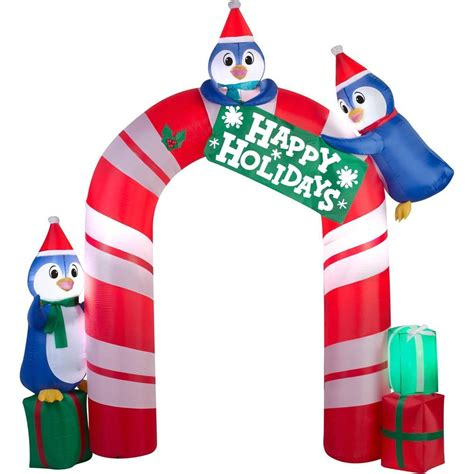 outdoor christmas inflatable airblown inflatables penguin