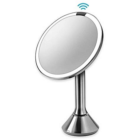 hand mirror with lights simplehuman 174 5x sensor vanity mirror www